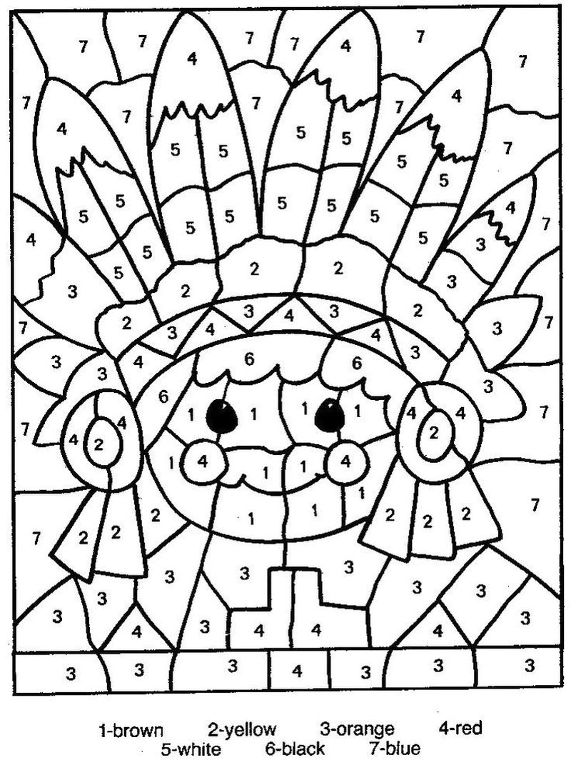 Printable Coloring Pages Color By Number 1