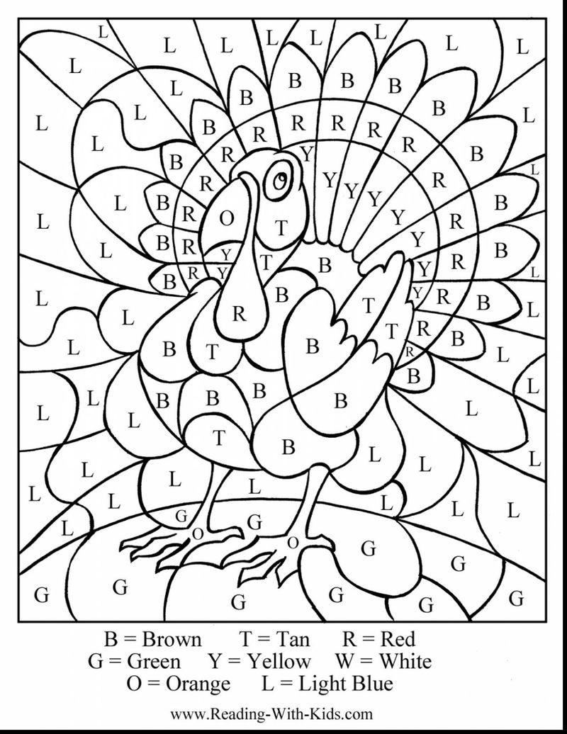 Printable Coloring Pages Color By Number Hard