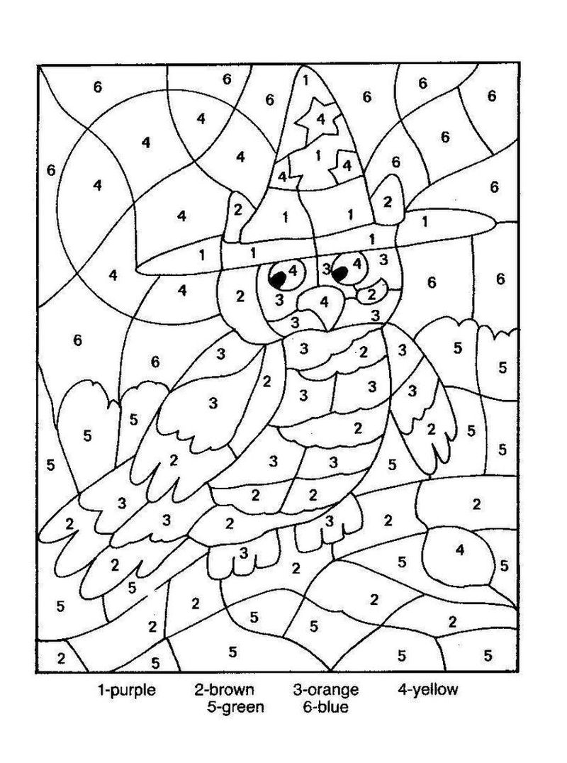 Printable Coloring Pages Color By Number