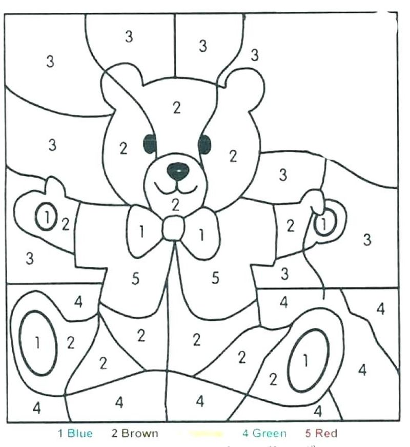 Printable Coloring Pages Kids Color By Number