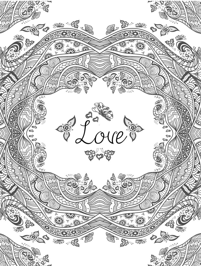 Printable Coloring Pages Love