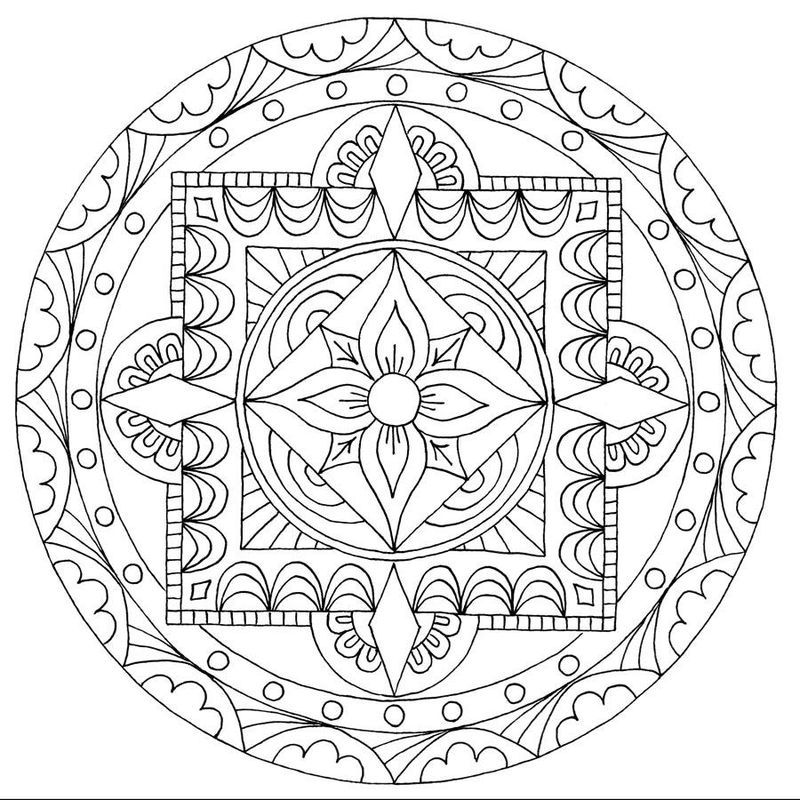 Printable Coloring Pages Mandala