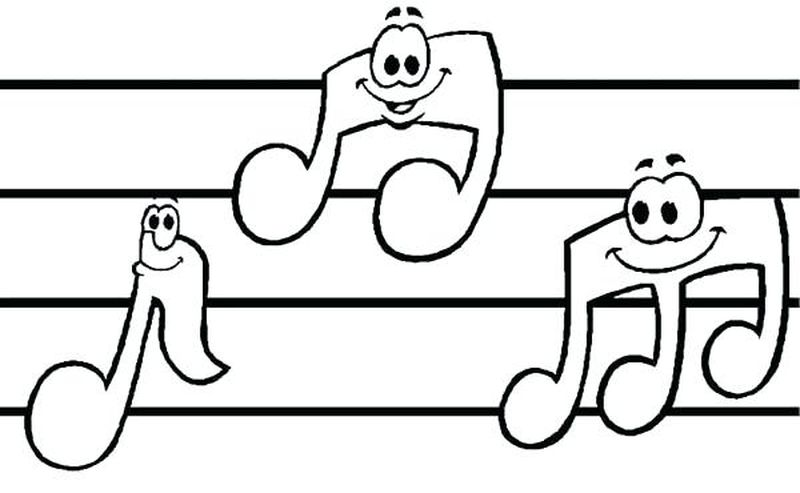 Printable Coloring Pages Music Pdf