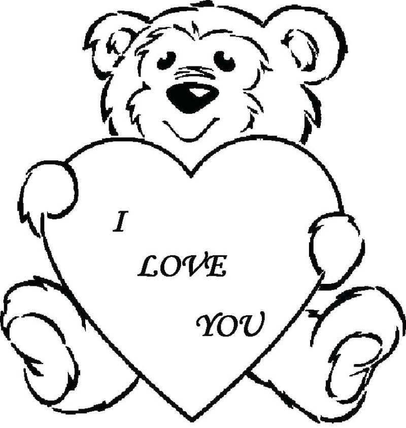 Printable Cute Love Coloring Pages
