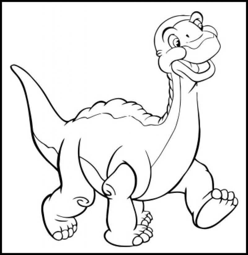 Printable Ducky On Land Before Time