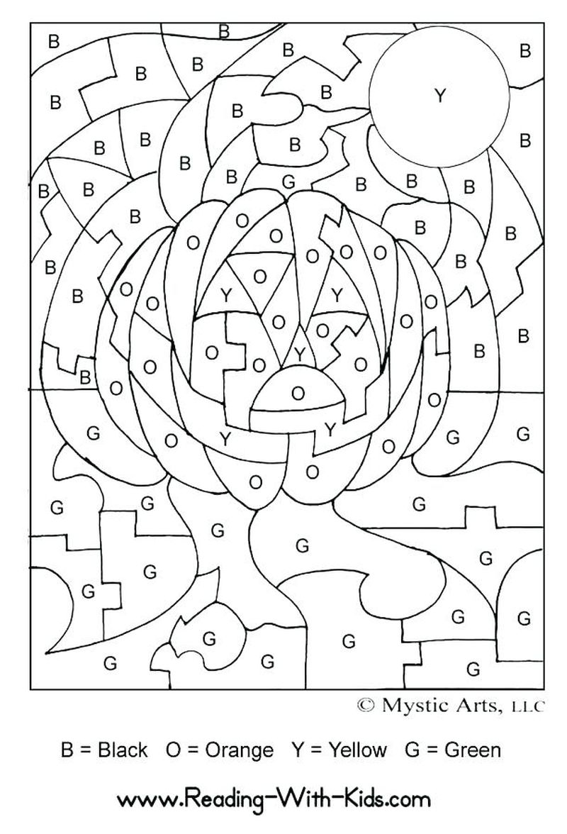 Printable Easter Color By Number Coloring Pages