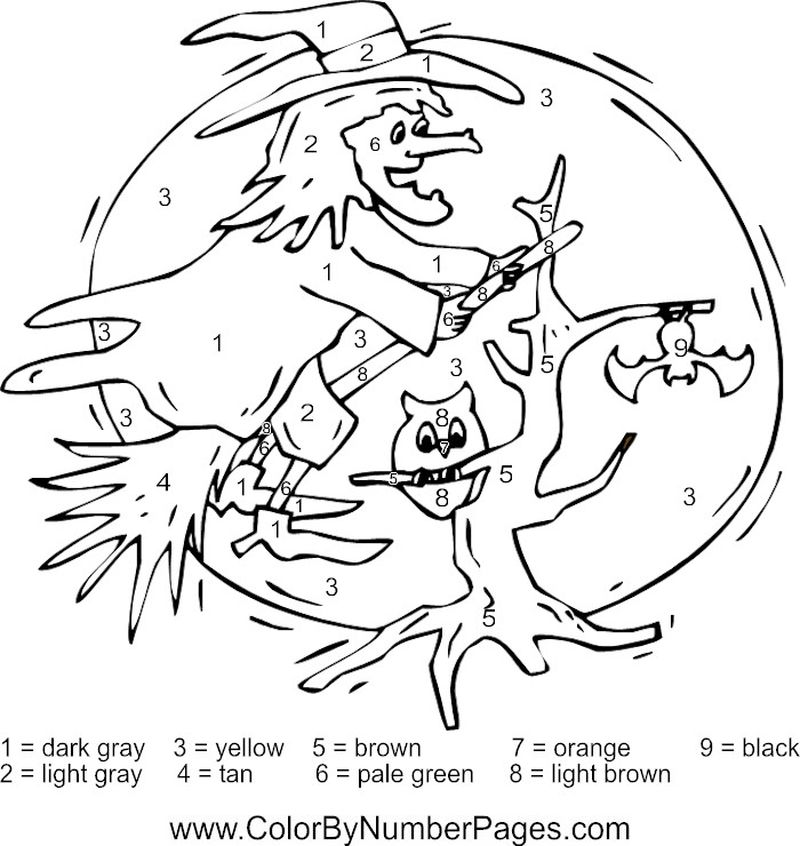 Printable Easy Color By Number Coloring Pages