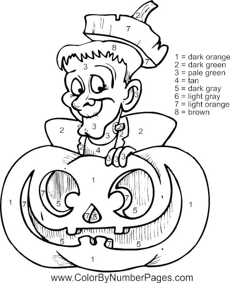 Printable Free Printable Color By Number Coloring Pages 1