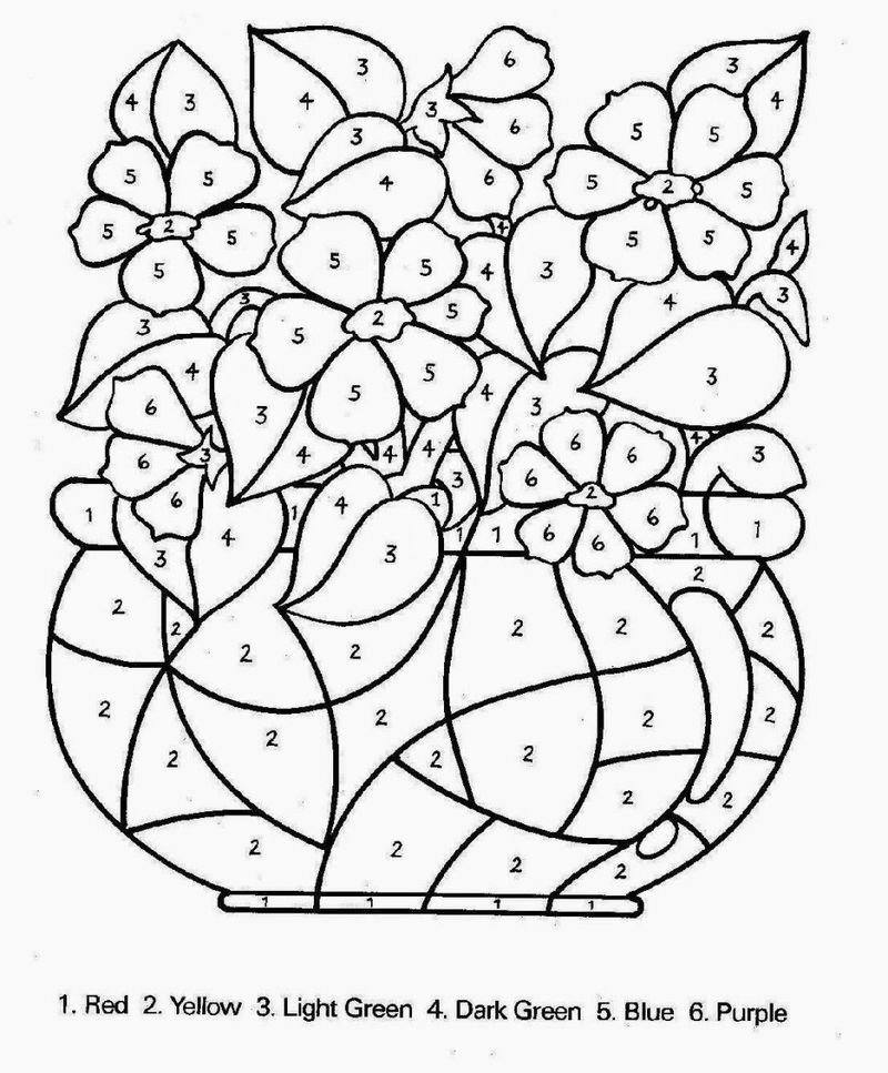 Printable Free Printable Color By Number Coloring Pages For Kids