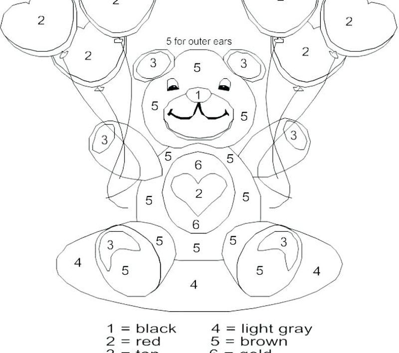 Printable Hard Color By Number Coloring Pages