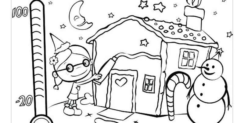 Printable Holiday Coloring Pages Image