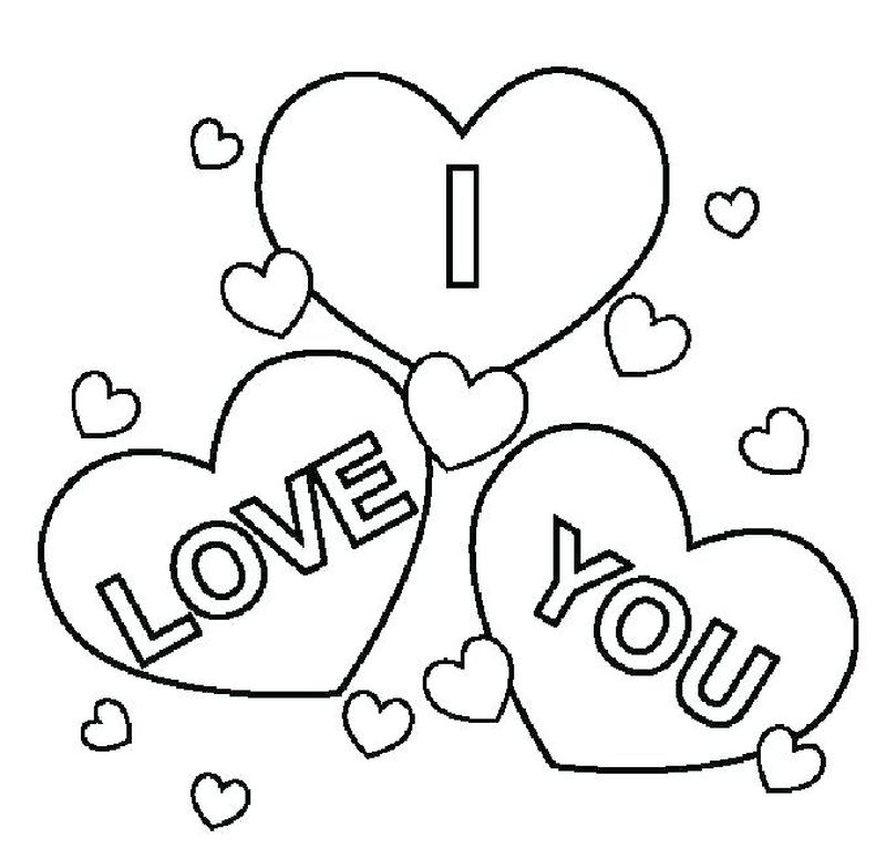 Printable I Love Pink Coloring Pages