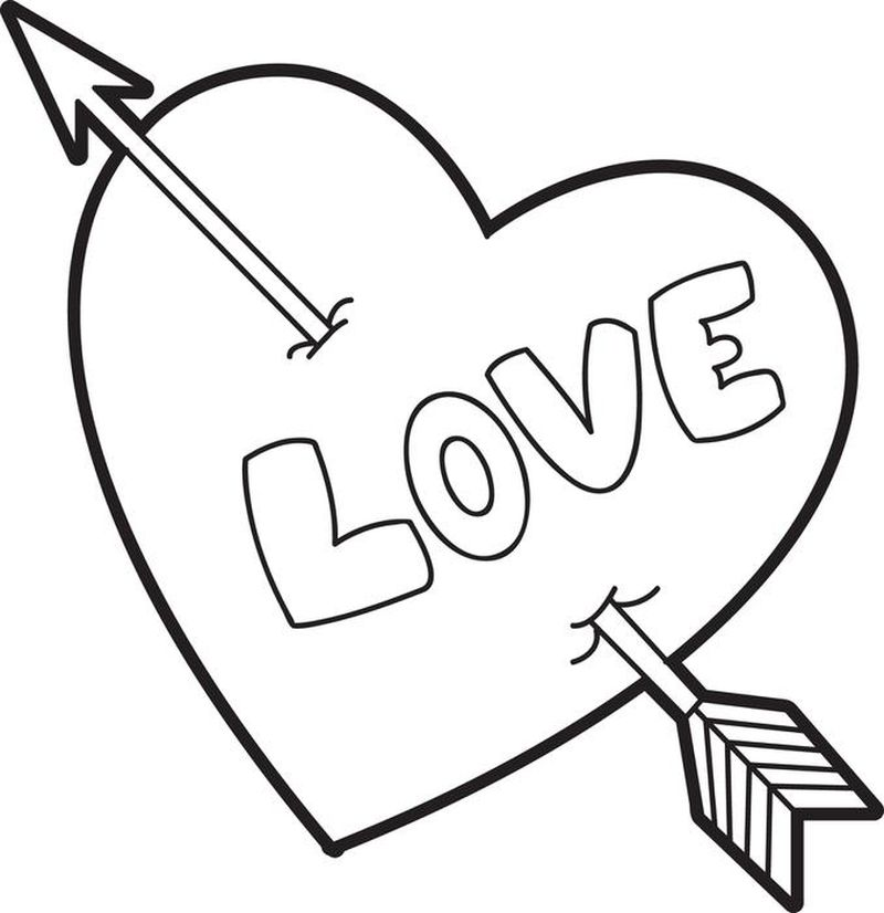 Printable Is Love Coloring Pages
