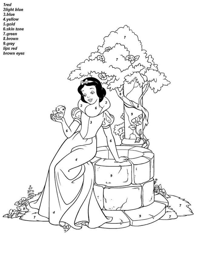 Printable Kids Color By Number Coloring Pages