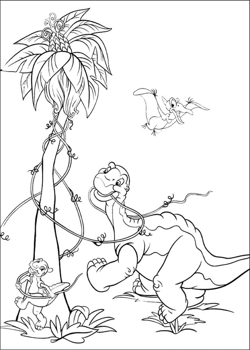 Printable Land Before Time Coloring Book