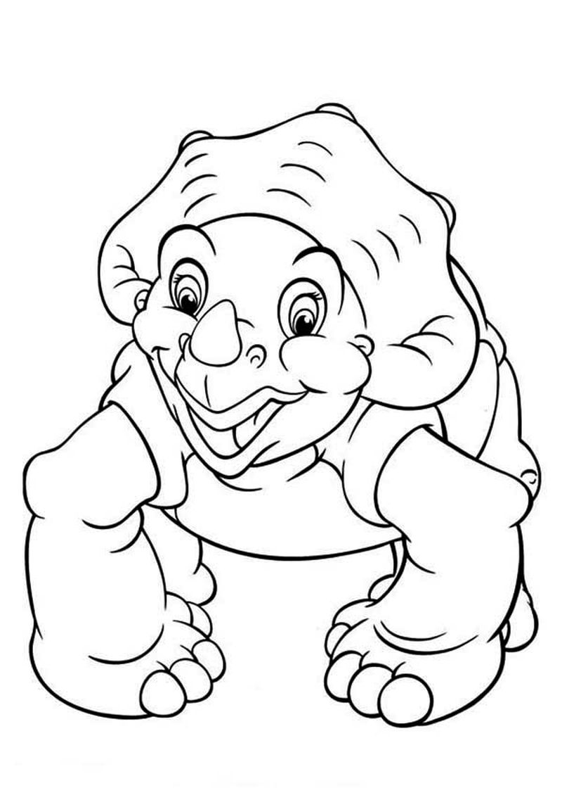 Printable Land Before Time Coloring Page
