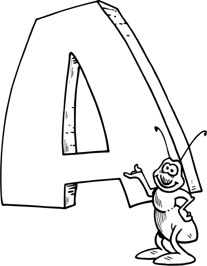 Printable Letter A Coloring Page