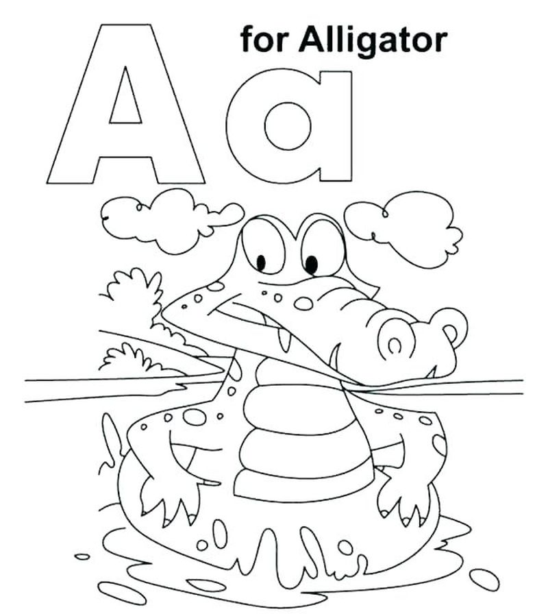 Printable Letter A Coloring Pages