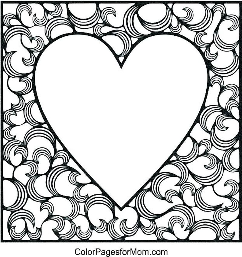 Printable Love Coloring Pages For Teenagers