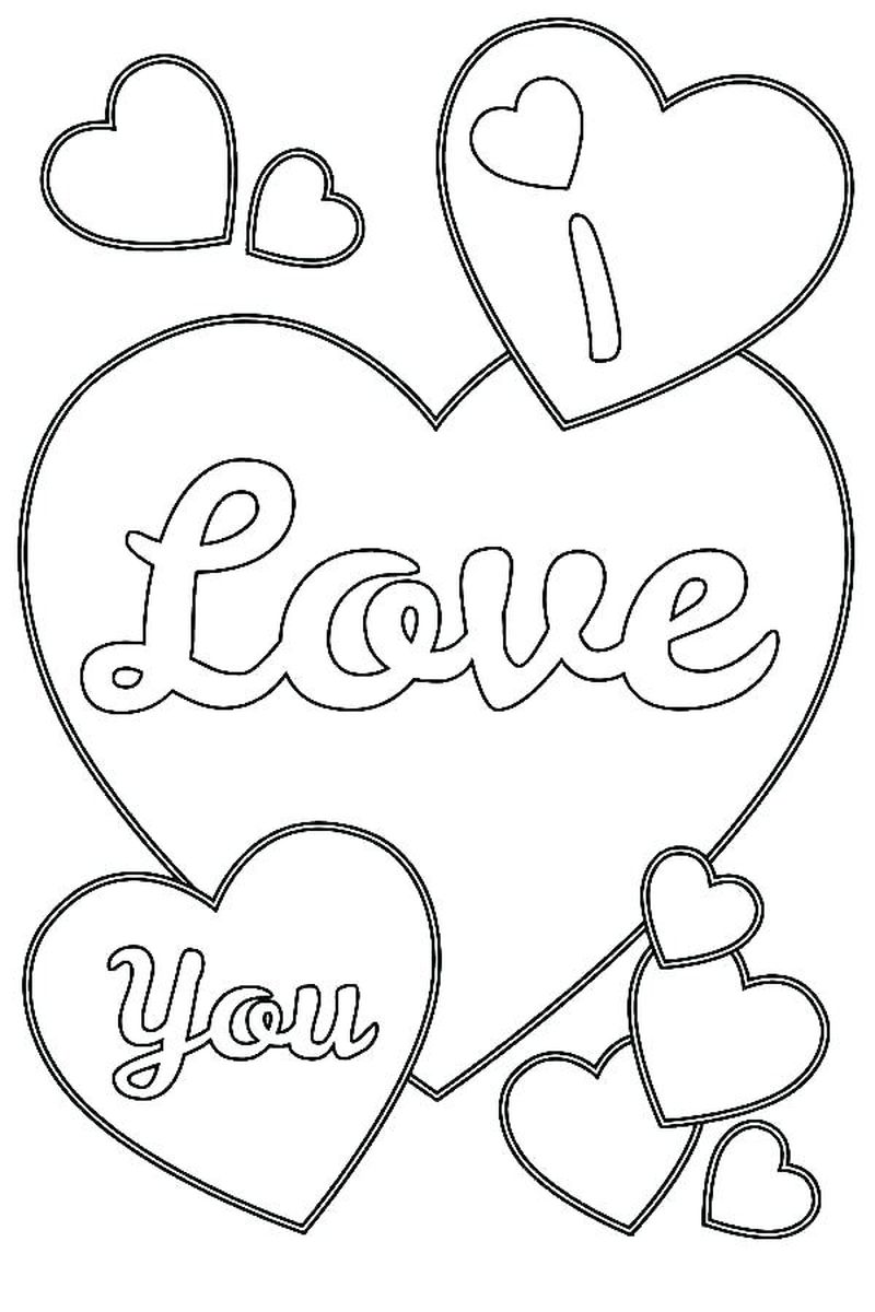 Printable Love Coloring Pages To Print