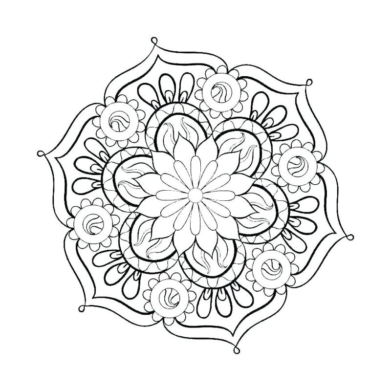 Printable Mandala Coloring For Kids