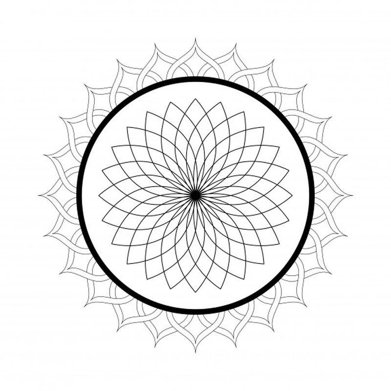 Printable Mandala Coloring Pages 1