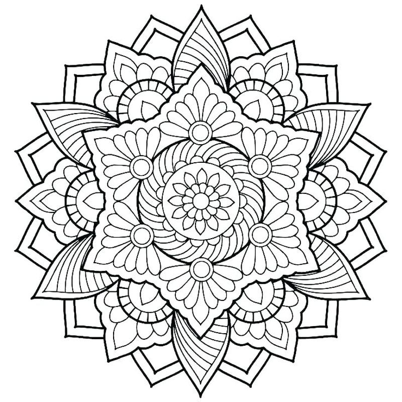 Printable Mandala Coloring Pages Free