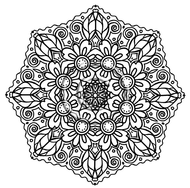 Printable Mandala Coloring Pages Kids