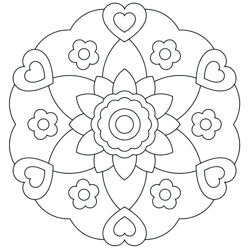 Printable Mandala Coloring Pictures