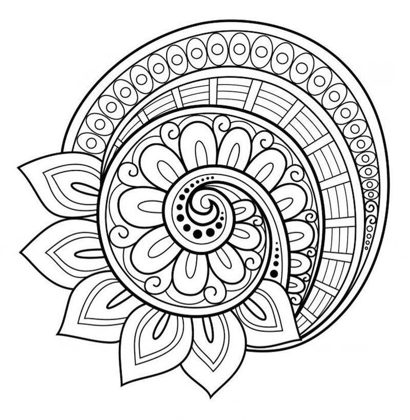 Printable Mandala Coloring Sheet