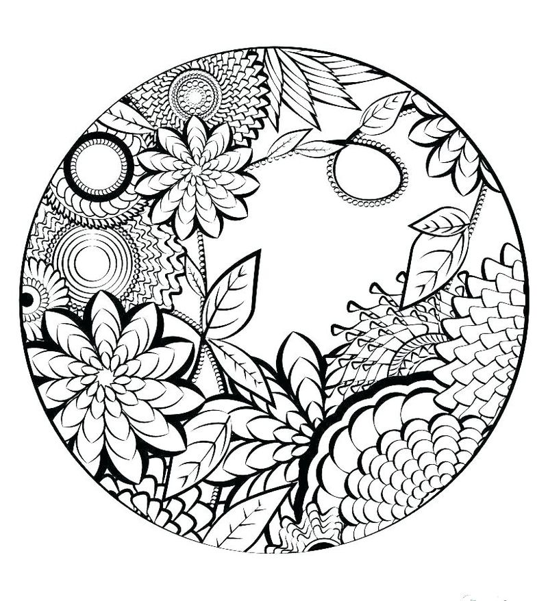 Printable Mandala Coloring Sheets For Kids