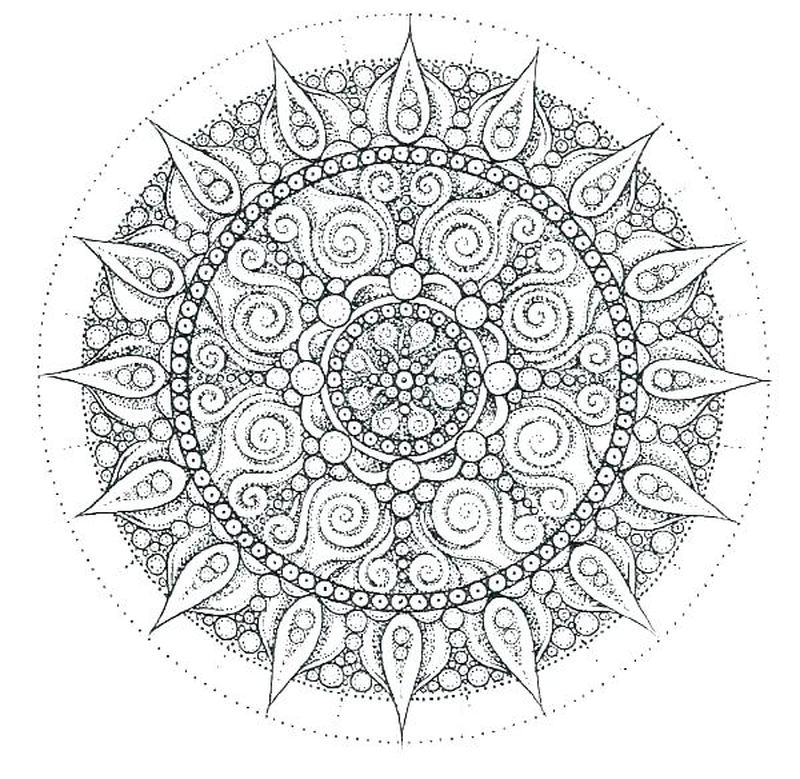 Printable Mandala For Kids
