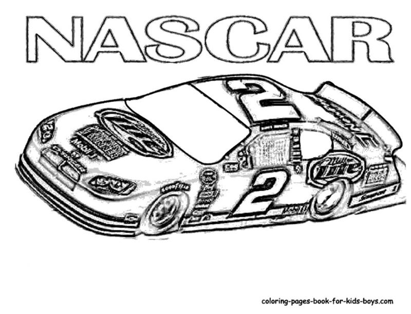 Printable Nascar Coloring Pages Kids