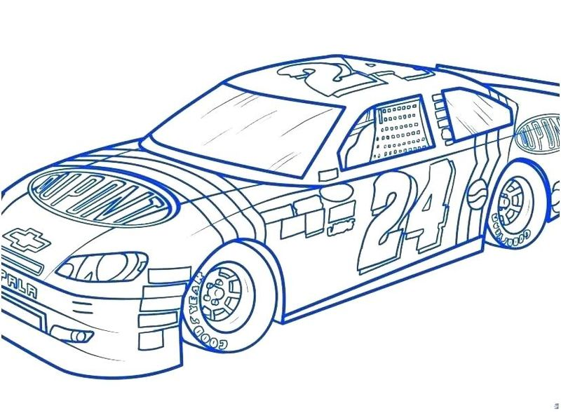 Printable Nascar Coloring Pages Pit Stop