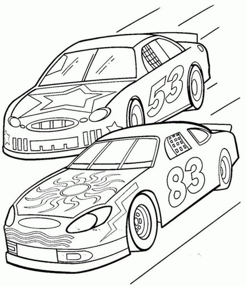 Printable Nascar Coloring Pages To Print