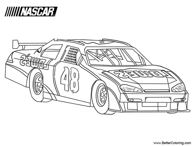 Printable Nascar Driver Coloring Pages