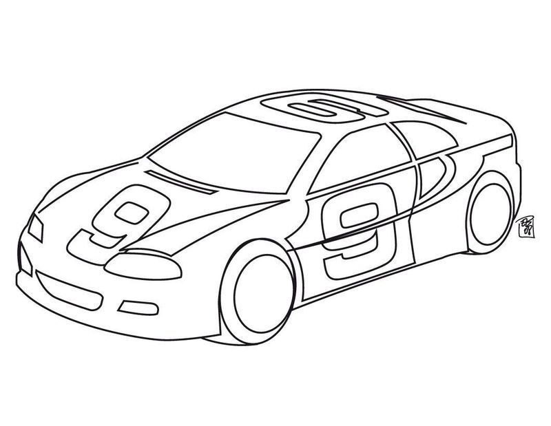 Printable Nascar Race Car Coloring Pages