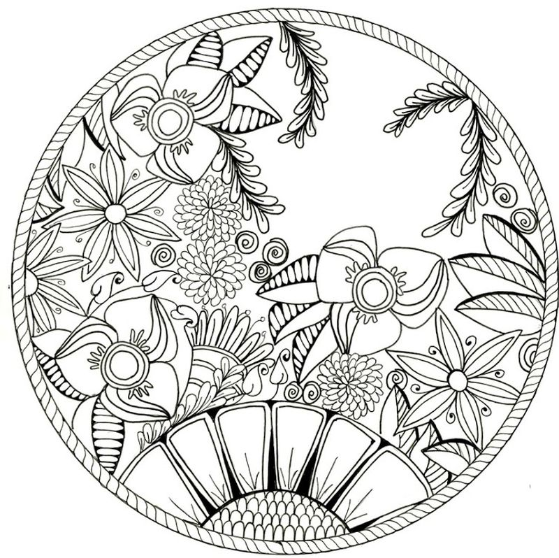 Printable Pictures Of Mandalas