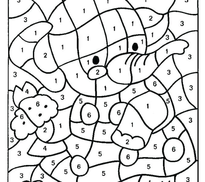 Printable Really Hard Color By Number Coloring Pages