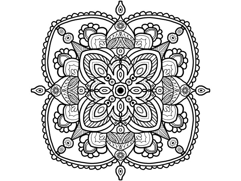 Printable Simple Mandalas To Color