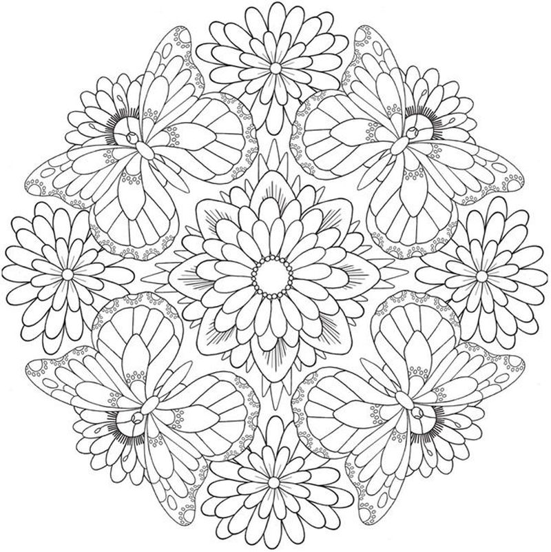 Printable Spring Mandala Coloring Pages