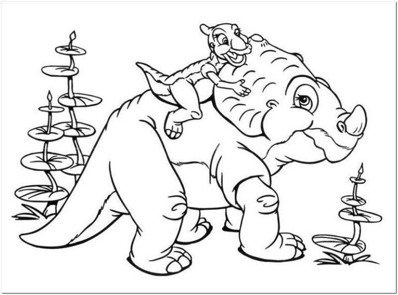 Printable The Land Before Time Coloring Page
