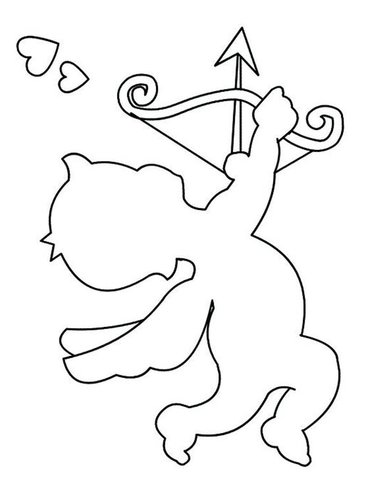 Printable cupid coloring pages download pict