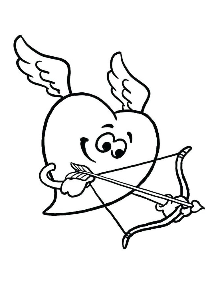 Printable cupid coloring pages download