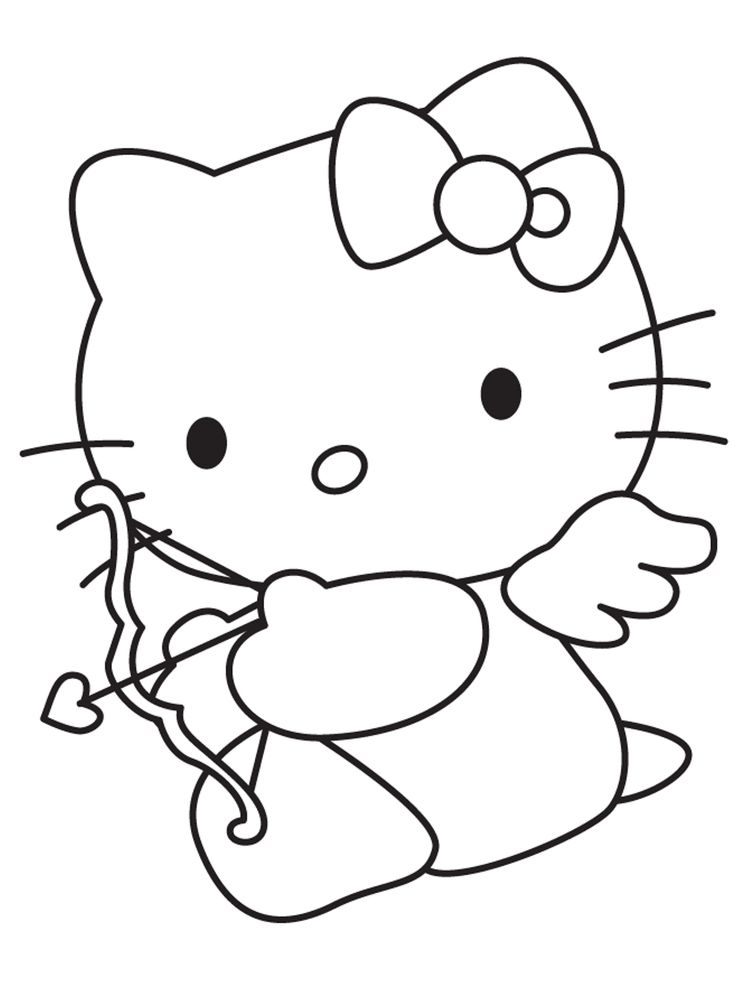 Printable cupid coloring pages free image