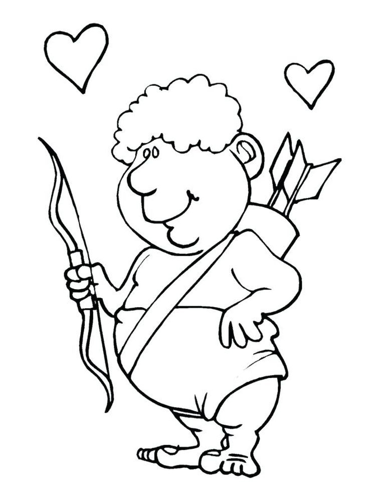 Printable cupid coloring pages free pdf