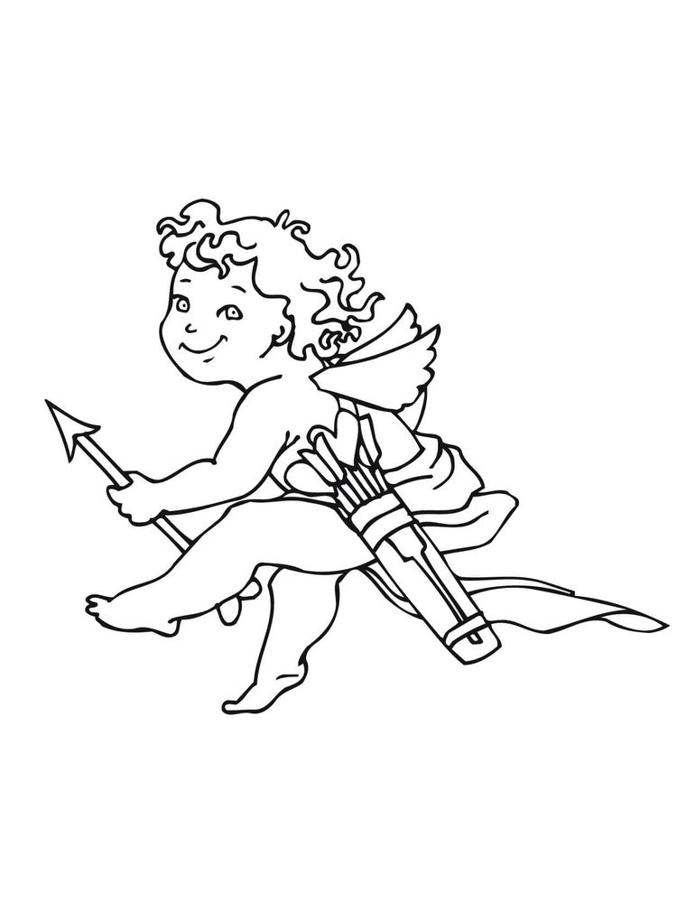 Printable cupid coloring pages free pict online