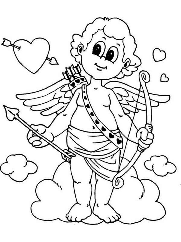 Printable cupid coloring pages free pict