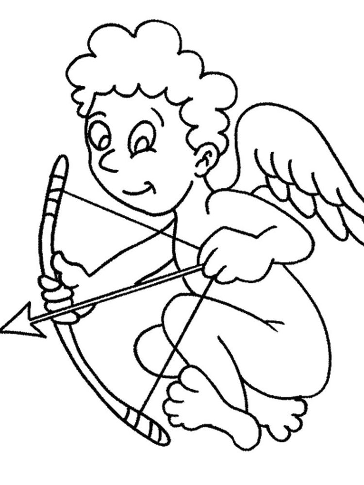 Printable cupid coloring pages free picture