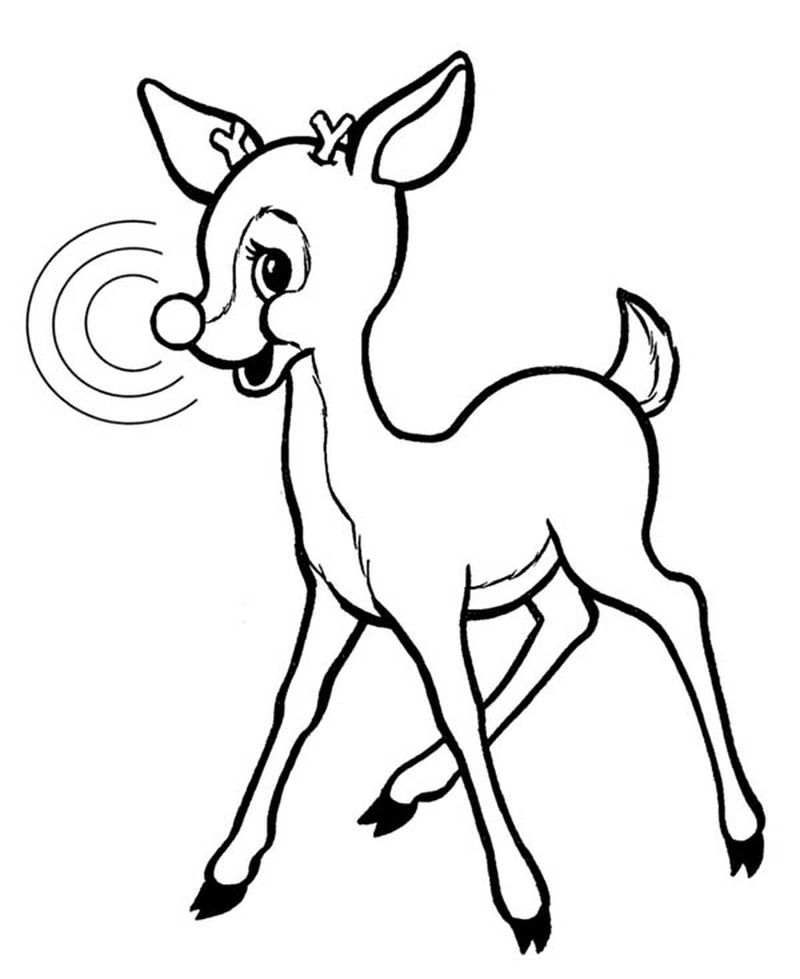 Santa Rudolph Coloring Pages